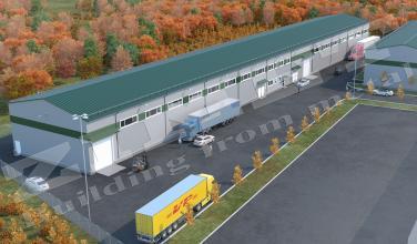 Офисно складское здание 2500м2